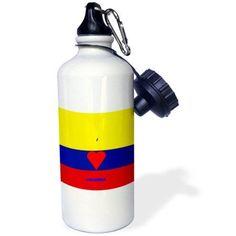 3dRose I Love Columbia, Sports Water Bottle, 21oz