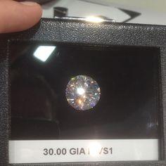 30 Carat Round Brilliant Cut #Diamond #diamonds #JCK #Jewelry Market Week #OKC #Jeweler