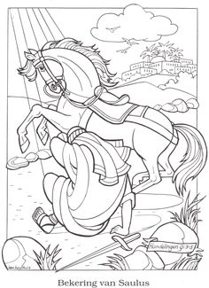 The Lord speaks to St. Paul Catholic Coloring Page Feast