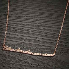 WOMAN NECKLACE CUTE JEWELRY PLATED ENGLISH DRESS NECKLACE LETTER $12.06  $10.25 IN STOCK This item is Woman Dress Necklace Ornament English Letter Rose Gold Plated. According to your own personal preferences, you can match it with beautiful clothes at different seasons. The following occasions, anniversary, engagement, gift, party, wedding, etc. are propitious to wear it.Note: