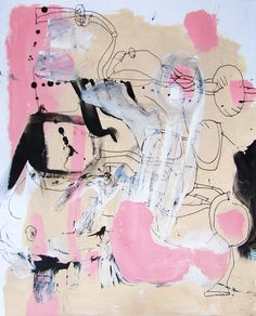 LOVE PINK - acrylic and ink on paper. that's all it's about