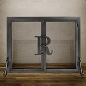 Personalized Fireplace Screens (DIY) buy cheap one from Lowes/Home Depot,  add