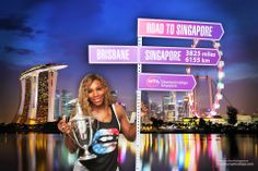 On the Road To Singapore 2014 ... World #1 Serena Williams. 4X Champion #WTAChamps