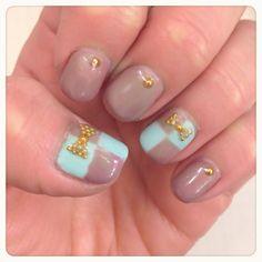 Raffine美容師ネイル、短い爪でも似合う、 スモーキーカラージェルネイル http://www.b2c.co.jp/raffine/