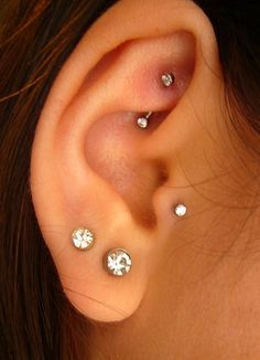Cute Want The Rook And Tragus Pierced Ear Piercings Double Piercing Tragis