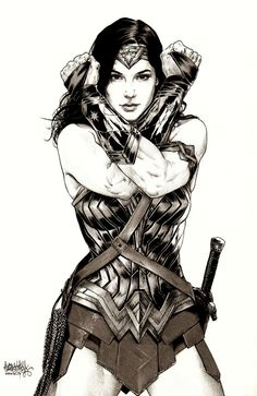 Wonder Woman/Gal Gadot art (black and white)(Batman V Superman: Dawn Of Justice) Wonder Woman Art, Wonder Woman Kunst, Wonder Woman Comic, Gal Gadot Wonder Woman, Wonder Women, Wonder Woman Drawing, Bd Comics, Comics Girls, Marvel Dc Comics