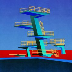 Stephanie Scholz: Diving Tower | It's Nice That