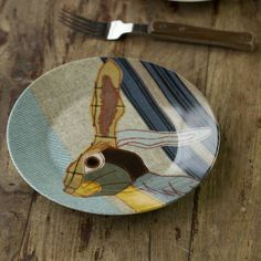 Beastie Stag, Hare, Badger And Fox Plate Set