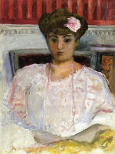 Misia with a Pink Corsage, 1908, Pierre Bonnard