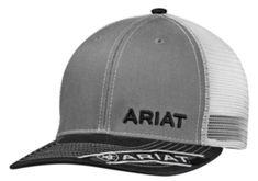 0601cc278ce77 Hats 52365  Ariat Mens Hat Baseball Cap Mesh Snapback Adjustable Gray Black  1501106 -  BUY IT NOW ONLY   19.99 on  eBay  ariat  baseball  snapback ...