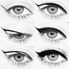 Winged eyeliner is a whole lot easier with this trick. To get the perfect flick … Winged eyeliner is a whole lot easier with this trick. To get the perfect flick in Step hold your eyeliner… Eyeliner Hacks, How To Apply Eyeliner, Easy Eyeliner, Perfect Eyeliner, Eyeliner Application, Eyeliner Flick, Eyeliner Makeup, Face Makeup, Makeup Eyes