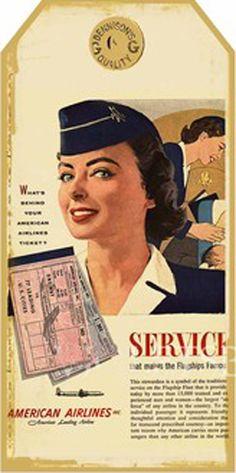 Vintage Stewardess Image