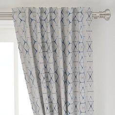 Geometric Curtain Panel - Shibori Triangle by - Shibori Custom Curtain Panel by Spoonflower Panel Curtains, Geometric Curtains, White Wall Decor, Custom Curtains, Blue Rooms, Soft Furnishings, Shibori, Basket Weaving