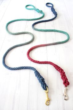 DIY mulitcolor dog leash
