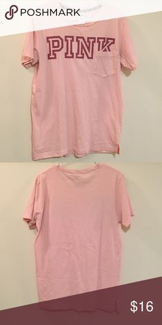 VS PINK tee shirt Peach colored size small Victoria's Secret PINK tee shirt, worn twice, awesome condition, no flaws or stains PINK Victoria's Secret Tops Tees - Short Sleeve