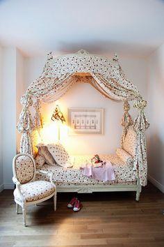A little Marie Antoinette moment.  8 Cute Kid Bed Ideas