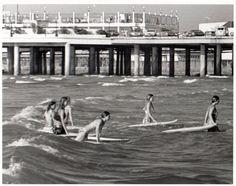 Texas girls hitting the waves.