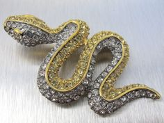KENNETH LANE KJL Rhinestone Crystal Snake by TonettesTreasures, $24.99