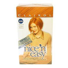 *Fairly* natural ginger permanent hair colour. Clairol Nice n Easy 108 Natural Golden Auburn