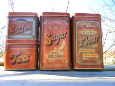 Vintage Canisters, I want these