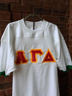 Sorority Double Letter Shirt/Jersey by AuntieJsDesigns on Etsy