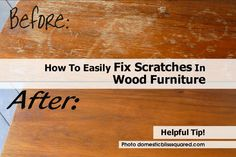 Whenever wood tables are used a lot, they will tend to get a lot of scratches in them over time. Removing the scratches from the surface of the wood can restore the look of the wood and allow you to enjoy the furniture again. I found this great article with information for removing scratches at domesticblisssquared.com by Jessica. How To Easily Fix Scratches In Wood Furniture