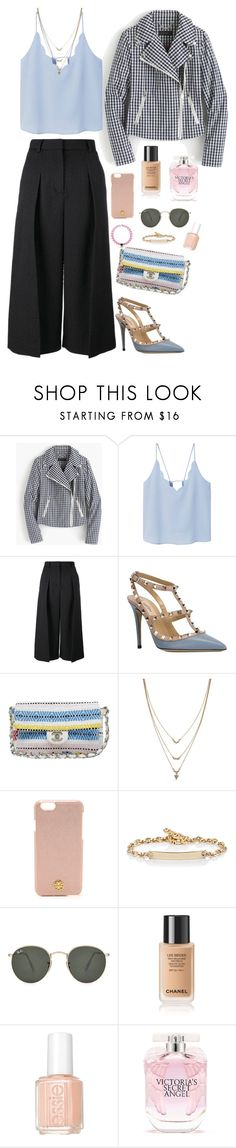 """""""Pattern combination❣"""" by misfitsclub on Polyvore featuring J.Crew, MANGO, Erdem, Valentino, Chanel, Jessica Simpson, Champion, Tory Burch, Hoorsenbuhs and Ray-Ban"""