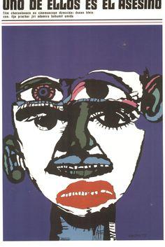 Carteles cubanos de cine. Homenaje a Muñoz Bachs Graphic Design Typography, Graphic Art, Graphic Posters, Vintage Graphic, Film Posters, Vintage Posters, Art Design, Cover Design, Pop Art