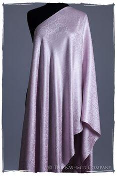 Lavender Fog Paisley Silk Scarf / Shawl