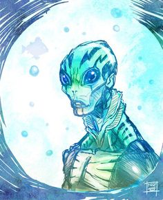 Abe Sapien by Nezart on @DeviantArt