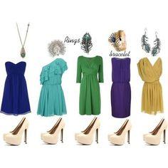 I don't like the dresses but I like the colors