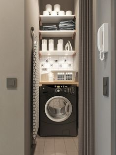 This 430 ft² Russian apartment proves that great style doesn't always come in big packages  #laundry