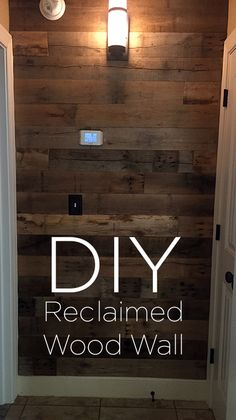 Completely transform your space with a reclaimed wood wall. Anyone can do this great DIY project! This post shows you all the steps to create your own amazing wall. Perfect touch to any home decor!