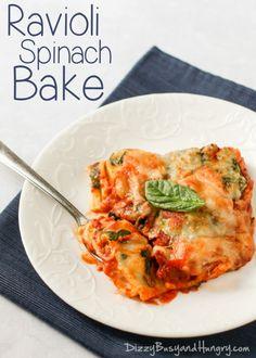 Ravioli Spinach Bake