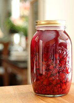Homemade Raspberry Liqueur