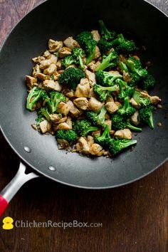 Super Healthy low fat chicken broccoli stir fry recipe, but it still has great flavor via ChickenRecipeBox.com