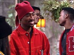"""This month in Tupac appeared on the TV show, """"A Different World. Tupac Shakur, 2pac, Tupac Pictures, Tupac Makaveli, The Cosby Show, A Different World, Best Rapper, Thug Life, Vestidos"""