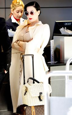 Dita at the airport