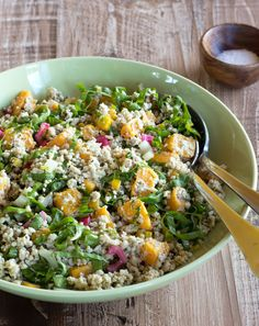 Warm Chicken Grain Salad with Butternut Squash & Greens from Nourish: The Paleo Healing Cookbook - meatified