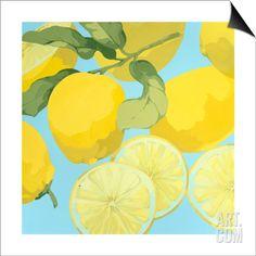 Fresh Lemons SwitchArt™ Print by Martha Negley at Art.com