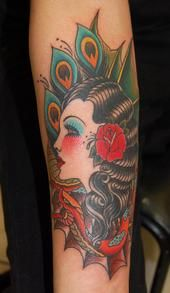 Black Hair, Red Hibiscus