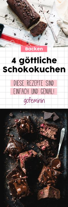 Göttliche Schokoladenkuchen: Diese 4 Angeber-Rezepte werden euch umhauen!