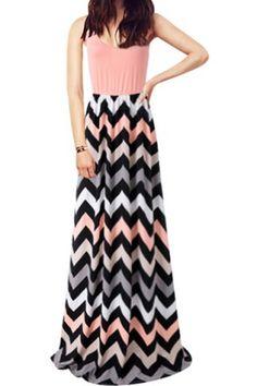 Stylish Scoop Neck Sleeveless Striped Women's Sundress Summer Dresses | RoseGal.com Mobile