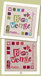 """Lilipoints - Bienvenue """"Bienvenue chez nous"""" 141 x 135 points W001"""