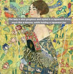 Last Klimt Painting Before He Suffering From Fatal Stroke ,, Lady With Fan,, - PINACOTHECA Gustav Klimt, Contemporary Art, Abstract Art, Fan, Movie Posters, Painting, Film Poster, Painting Art, Paintings