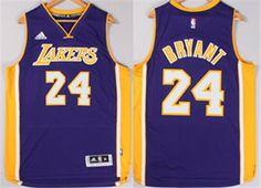 Los Angeles Lakers Jersey 24 Kobe Bryant Revolution 30 Swingman 2014 New  Purple Jerseys