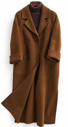 Fashion oversized trench coat half sleeve coats chocolate No Long Winter Coats, Winter Coats Women, Coats For Women, Jackets For Women, Fall Coats, Oversized Mantel, Oversized Coat, Herringbone Coat, Mode Mantel
