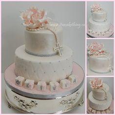 Fancy Bling Communion Cake