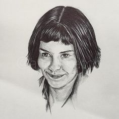 🔸A is for Amélie Poulain • Audrey Tautou in Le fabuleux destin d'Amélie Poulain • #draw #drawing #illustration #sketch #sketching #sketchbook #sketchdaily #art #artist #artwork #artsy #pen #pendrawing #penart #ink #portrait #movie #film #character #audreytautou #jeanpierrejeunet #amelie #ameliepoulain #amélie