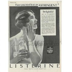 Modern Priscilla Advertisement for Listerine I chose this because I thought it was interesting how many different ways they have to use this product advertised